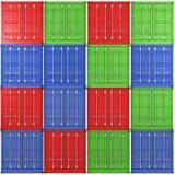 bakgrundsfärgbehållare fraktar multiple stock illustrationer