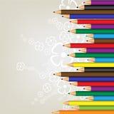 bakgrundsfärgblyertspennor stock illustrationer