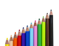 Bakgrundsfärgblyertspennor i våg Royaltyfri Bild