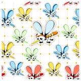 Bakgrundsfärgmyggor Royaltyfri Foto