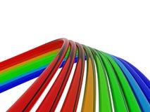 bakgrundsfärgtrådar Arkivbilder