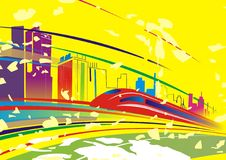 bakgrundsfärgtunnelbana Arkivbild