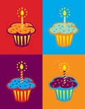 bakgrundsfödelsedag vektor illustrationer