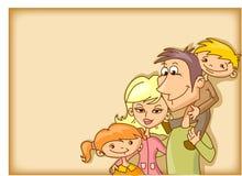 bakgrundsfamiljvektor royaltyfri illustrationer