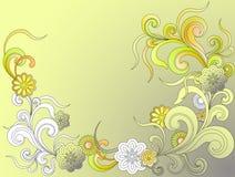 bakgrundsfantasiblommor stock illustrationer