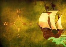 bakgrundsfartyggrunge Royaltyfri Bild
