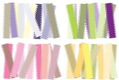 bakgrundsfilmstripset vektor illustrationer