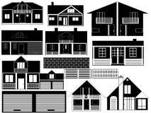 bakgrundsfinden houses mer min portföljwhite stock illustrationer