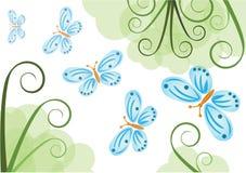 bakgrundsfjärilar Royaltyfri Bild