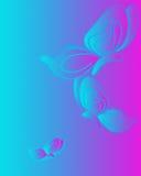 bakgrundsfjärilar Royaltyfri Foto