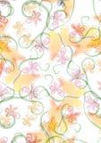 bakgrundsfjärilsblommor royaltyfri illustrationer
