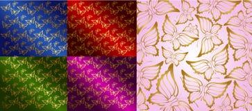 bakgrundsfjärilssilhouettes Royaltyfria Foton