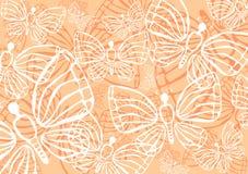 bakgrundsfjärilar Royaltyfria Bilder