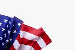 Bakgrundsflagga av Amerikas förenta stater för nationell federal ferieberöm och sörjande minnedag USA symbol Arkivfoto
