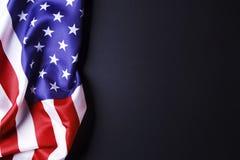 Bakgrundsflagga av Amerikas förenta stater för nationell federal ferieberöm och sörjande minnedag USA symbol Royaltyfria Foton