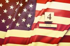 Bakgrundsflagga av Amerikas förenta stater för nationell federal ferieberöm av självständighetsdagen USA symbolics Fotografering för Bildbyråer