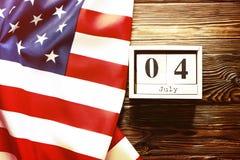 Bakgrundsflagga av Amerikas förenta stater för nationell federal ferieberöm av självständighetsdagen USA symbolics Royaltyfria Foton