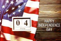 Bakgrundsflagga av Amerikas förenta stater för nationell federal ferieberöm av självständighetsdagen USA symbolics Arkivbild
