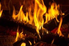Bakgrundsflammabrand Arkivfoto
