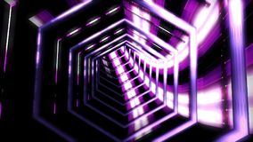 Bakgrundsflyg i science fictiontunnel framförande 3d Fotografering för Bildbyråer