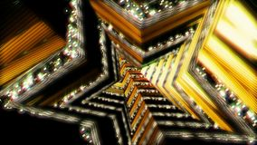 Bakgrundsflyg i science fictiontunnel framförande 3d Arkivfoto
