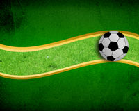 bakgrundsfotboll Royaltyfri Bild