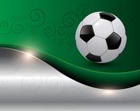 bakgrundsfotboll Arkivfoto