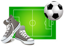 bakgrundsfotboll Arkivfoton