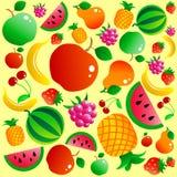 bakgrundsfrukt vektor illustrationer