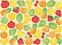 bakgrundsfrukt stock illustrationer