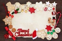 Bakgrundsgräns för glad jul arkivfoton