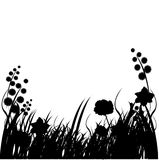 bakgrundsgrässilhouettes Arkivbild