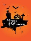 bakgrundsgrunge halloween Fotografering för Bildbyråer