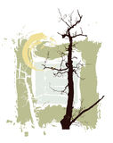bakgrundsgrunge silhouettes trees stock illustrationer