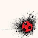 bakgrundsgrungefotboll Arkivfoto