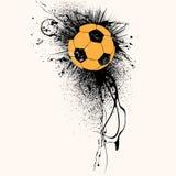bakgrundsgrungefotboll Royaltyfria Bilder
