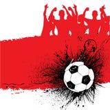 bakgrundsgrungefotboll Royaltyfri Fotografi