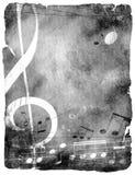 bakgrundsgrungemusikal stock illustrationer