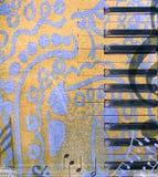 bakgrundsgrungemusikal Arkivbild
