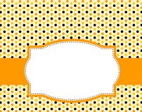 bakgrundshalloween polka Arkivfoto