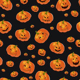 bakgrundshalloween pumpor stock illustrationer