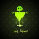 bakgrundshalloween scarecrow stock illustrationer