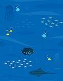 bakgrundshav stock illustrationer
