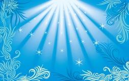 bakgrundshavsstjärna royaltyfri illustrationer