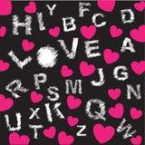 bakgrundshjärtabokstäver Fotografering för Bildbyråer