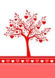 bakgrundshjärtatree Royaltyfria Bilder