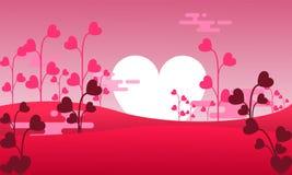 Bakgrundsillustration för valentin dag stock illustrationer