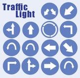 bakgrundsillustrationen isolerade ljus white för trafikvariantsvektor Royaltyfri Bild