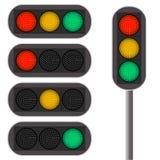 bakgrundsillustrationen isolerade ljus white för trafikvariantsvektor Reglerna av vägen Royaltyfria Bilder