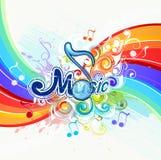 bakgrundsillustrationmusik Royaltyfri Bild